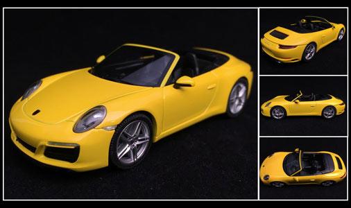 991 II Herpa 070997-PORSCHE 911 Carrera S Cabriolet en bleu métallisé 1:43